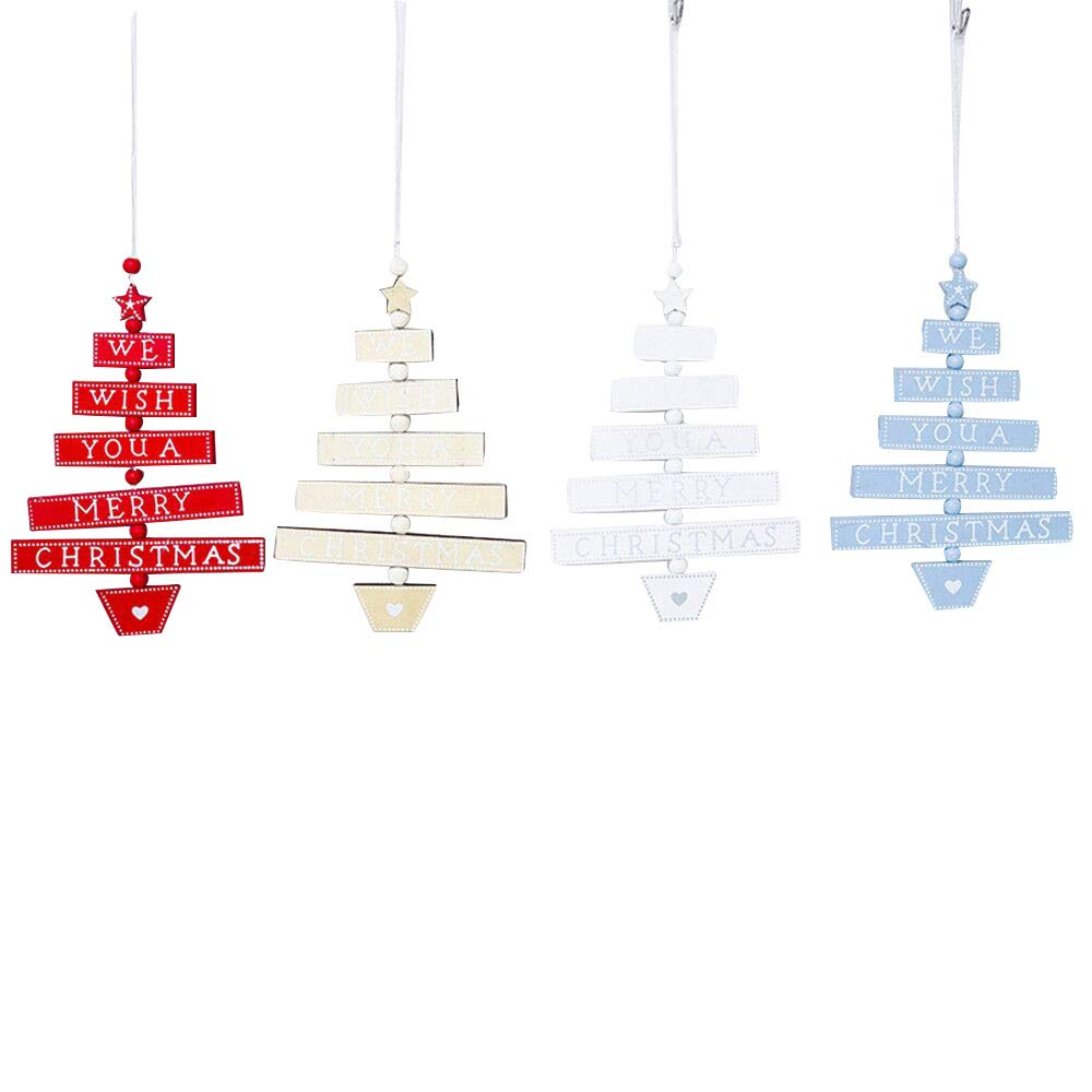 Christmas Ball Ornaments Christmas Decoration Christmas Colorful Wooden Pendants Ornaments Kid Gift