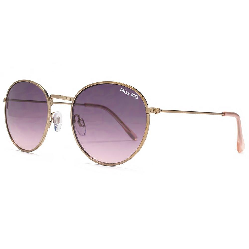 Miss KG Metall Runde Sonnenbrillen bleich Gold MKG022