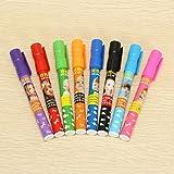Genvana 1.5mm 8 Colors Per Set Children Cute Erasable Marker Pen for Whiteboard