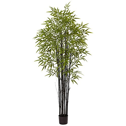 Black Bamboo Tree - Nearly Natural 5481 Tree UV Resistant (Indoor/Outdoor), 9 Piece