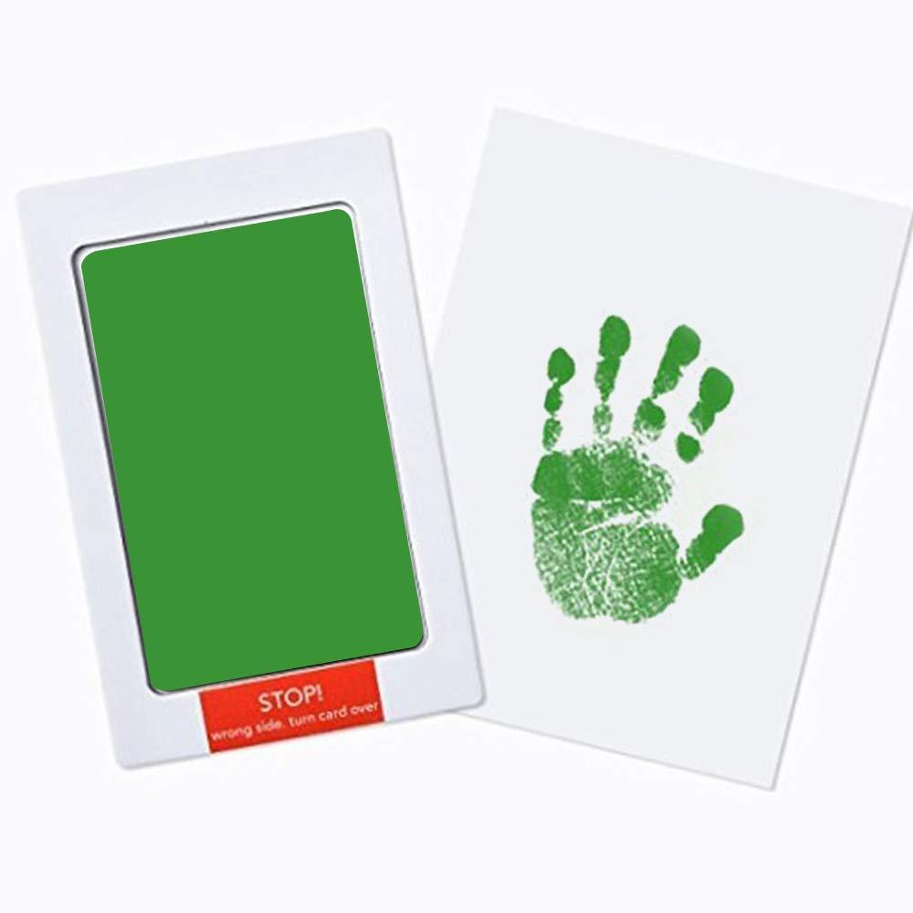 Refaxi Impresi/ón del trapo sin tinta beb/é mano pie Kit reci/én nacido beb/é Handprint Kit huella y foto marco Ink Pad recuerdo para ni/ños reci/én nacidos y ni/ños grande negro