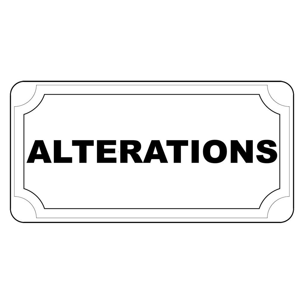 Amazon com alteration s black retro vintage style label decal sticker sticks to any surface 8 in x 12 in with holes office products