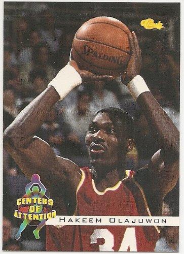 Rockets Hakeem Olajuwon Card - Hakeem Olajuwon 1994 Classic Centers Of Attention Houston Rockets Card #70