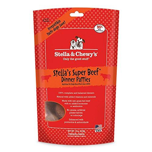 Stella & Chewy's Freeze-Dried Raw Stella's Super Beef Dinner Patties Dog Food, 15 oz. bag