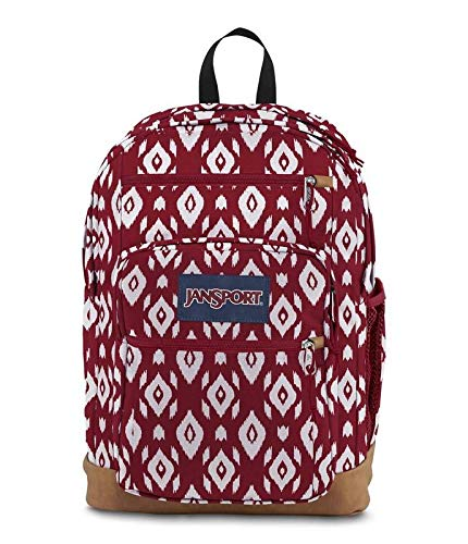 JanSport JS0A2SDD Cool Student Backpack, Viking Red Ikat Diamonds - One ()