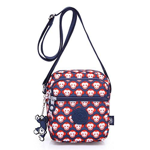 Foino Women Cross Body Bag Small Shoulder Bag Designer Travel Messenger Bag Fashion Side Pack for Girls Sport Satchel Red 2