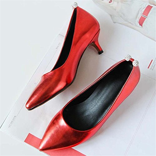 HXVU56546 Durante La Primavera Y El Otoño Con El Nuevo Presidente Zapato Bajo De Estilo Fino Con Solo Zapatos Red