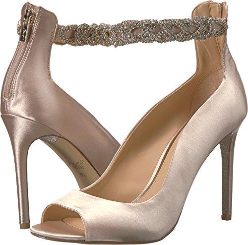 Badgley Mischka Jewel Women's Alanis Heeled Sandal, Champagne, 9.5 Medium (Badgley Mischka Champagne Satin)