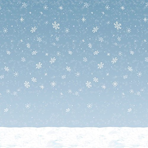 Winter Sky Backdrop Party Accessory (1 count) (1/Pkg)