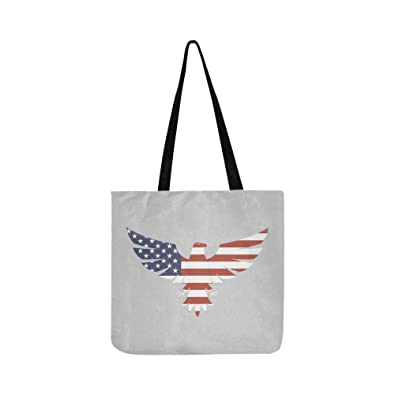 e9cf5ef646 Image Unavailable. Image not available for. Color  American Eagle Logo  Canvas Tote Handbag Shoulder Bag Crossbody ...