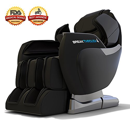 Medical Breakthrough 4 Massage Chair Recliner (ver 2.0) - Zero Gravity, Built-in Heat, Deep Tissue Shiatsu Massage, and Back Stretch (Black)