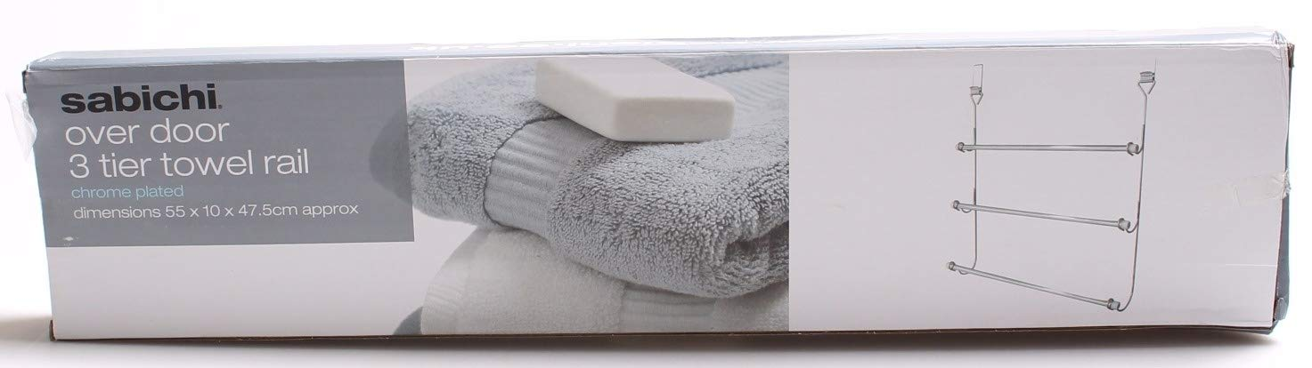 Chrome Finish 3 Tier Over Door Towel Rail Hanger by www.choicefullshop.com