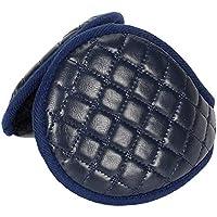 NYKKOLA Unisex Foldable Earmuffs Polar Fleece/PU Leather Winter Ear Warmers for Men Women, Back-Your-Head Ear Muffs
