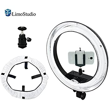 Amazon Com Limostudio 18 Inch Round Ring Light Dimmable