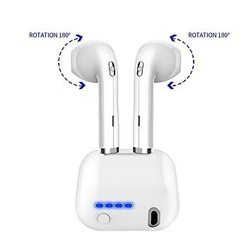 Auricular Bluetooth, Mini Invisible In-Ear Caja De Carga, Auriculares Inalámbricos Bluetooth Headset: Amazon.es: Deportes y aire libre