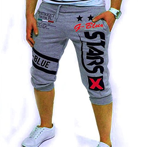 Vita Pantaloncini Sport Casual Stampa moda Pantaloncini Coulisse Nuovi Elastico Uomo Grigio Paolian 1 Pantaloni ng0qwvPvz
