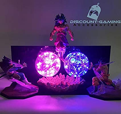 Reliable Dragon Ball Z Broly Led Light Super Saiyan Action Figures Led Head Lighting Pvc Anime Dragon Ball Broly Diy Led Light Dbz Led Night Lights
