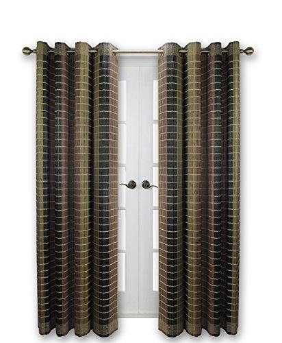 Versailles Home Fashions BPU144884-12 Bamboo Wood Curtain Panel with Grommets, 48