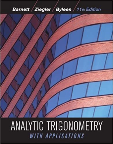 Analytic trigonometry with applications 11th edition 11 raymond a analytic trigonometry with applications 11th edition 11 raymond a barnett amazon fandeluxe Choice Image