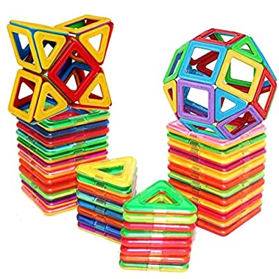 E-TOP Magnetic Building Blocks Set Magnetic Tiles Educational Toys 30 PCS: Toys & Games