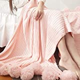 """Abreeze Pink Adult Blanket Air conditioning blanket All Seasons Sleeping Blanket Knit Throw Blanket For Girls 39""""x59"""""""