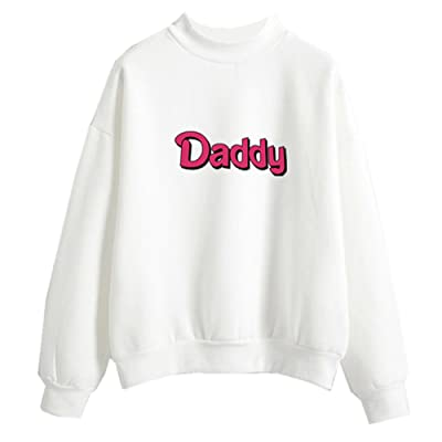 Fashiononly Fashion Women Sweatshirts Kawaii Pastel Daddy Print Harajuku  Pullover Clothes T-Shirt 75cff0b4f