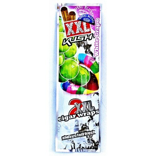 Cigars Filler (Royal XXL Cigar Wraps White Grape 4 Packs Per Order with Bakebro Silicone Container)