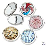 Art Glass Compact Mirror (Set of 4)