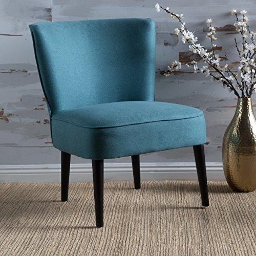 Christopher Knight Home 300309 Nora Modern Chic Fabric Club Chair Dark Teal