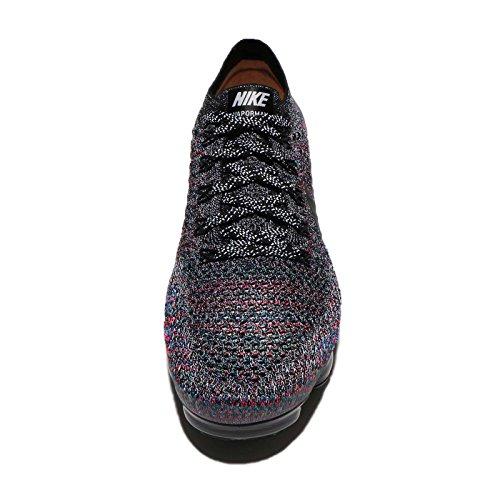 Nike Femmes Wmns Air Vapormax Flyknit, Noir / Noir-brillant Crimson-racer Bleu Noir / Noir-brillant Crimson-racer Bleu