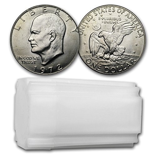 1972 D Clad Eisenhower Dollars 20-Coin Roll BU Dollar Brilliant Uncirculated