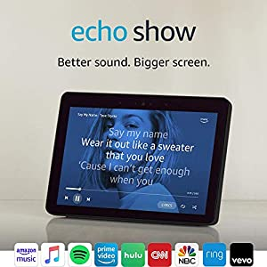 Echo Show (2nd Gen) – Premium sound and a vibrant 10.1″ HD screen – Charcoal