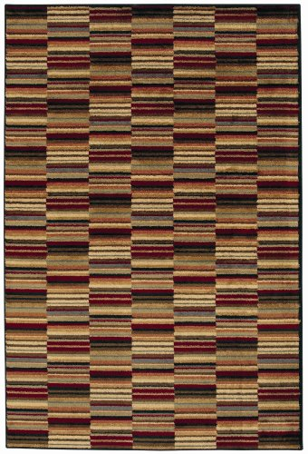 Shaw Living Accents 5-Foot 3-Inch by 7-Foot 10-Inch Rug in Loft Pattern, Multi (Collection Shaw Rugs)