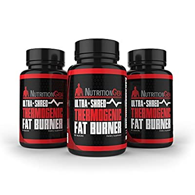 "Ultra Shred Thermogenic Fat Burner - Best Weight Loss Pills - Appetite Suppressant with Glucomannan and Hoodia - Shred Fat Quickly - Best Thermogenic Energy Supplement - 90 Day ""No Quibble"" Guarantee"