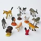 Fun Central (AU192) 12pc 5 Inch Assorted Farm Animals, Plastic Animal Figures, Farm Animals for Kids, Farm Animal Action Figures, Farm Animal Figures for Toddlers, Small Animal Farm Figures