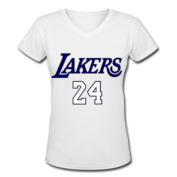 STEPHANIE PRODUCTS Caliente Venta NBA Kobe Bryant Logo Ventilador de La Mujer Cuello EN V Tee