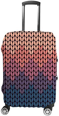 スーツケースカバー 勾配の編み柄 伸縮素材 キャリーバッグ お荷物カバ 保護 傷や汚れから守る ジッパー 水洗える 旅行 出張 S/M/L/XLサイズ