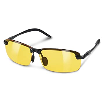 141f8aed7f2 Navaris Polarized Night Driving Glasses - Anti-Glare Polarised Yellow UV  Vision Protection Sunglasses for