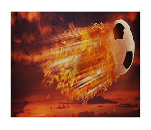 Super Strike Football And Soccer Wood Print Wall Art Wall Decor - 24''x20'' by Style in Print