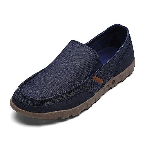 de Ocasionales Zapatos de y Lona Antideslizantes Azul Hombres Desgaste para Verano al Resistentes UqqfdFExr