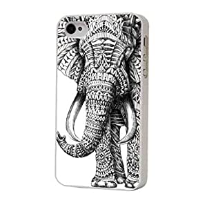 Cellbell Official License iphone 4 4S aztec Ornate elephant Fashion Trend Design Case/Back cover Metal and Hard Plastic Case
