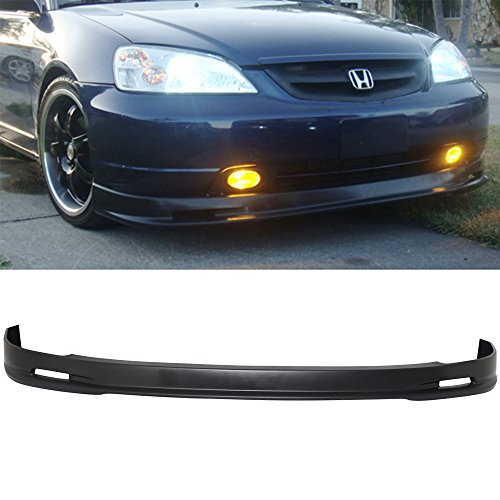 01-03 Honda Civic 2/4 Door MUG Style Urethane Add-On Front Bumper Lip Urethane - Honda Front Lip