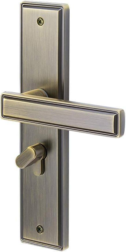 QIQIDEDIAN Tiradores De Las Puertas Exteriores para La Puerta Delantera Dormitorio Tirador De La Puerta De La Puerta De La Oficina (Color : Bronze)