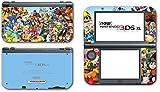 Super Smash Bros Melee Brawl Mario Pikachu Yoshi Mega Man Zelda Sonic Metroid Video Game Vinyl Decal Skin Sticker Cover for the New Nintendo 3DS XL LL 2015 System Console