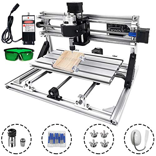 Mophorni CNC Machine 3018 Grbl Control CNC Router Kit 3Axis PCB Laser Engraver 300X180X45mm With 500mW Laser Head Module and Lamp