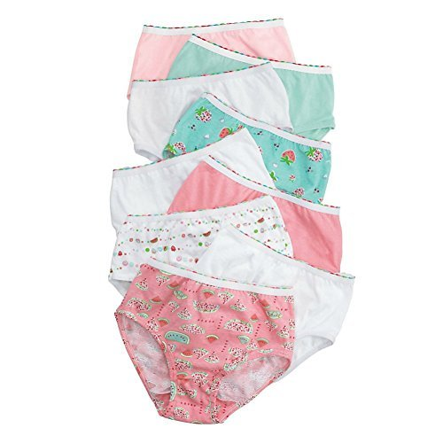 Price comparison product image Hanes Girls' No Ride Up Cotton Colored Briefs 9-Pack - Best Seller! (14)
