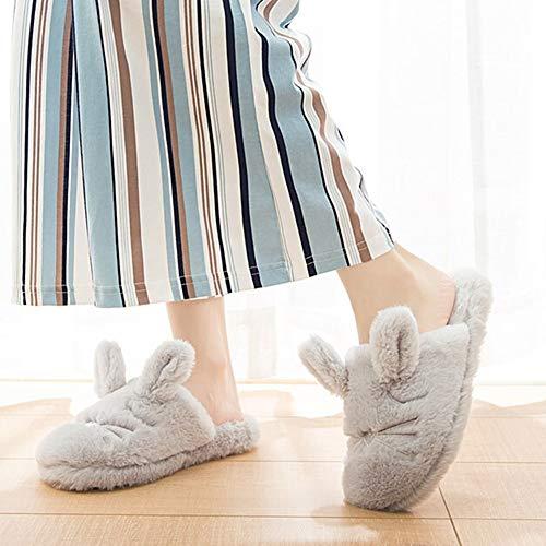 Bolsa Zapatillas Casa 39 Interior Pantuflas Tamaño Cálido Zapatillas Light Media Suave Interior Color Confortable Hogar Zapatilla 38 De con Y CONGMING Slippers Algodón Antideslizantes Grey FxS5qPwnA