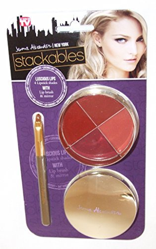 Amazon Com Jerome Alexander Stackables Luscious Lips 4 Lipsticks