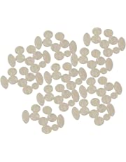BQLZR Pearl Round Oval Key Buttons Inlays for Alto Tenor Soprano Saxophone Pack of 90