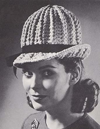 Crochet Stitches Amazon : Bowler Hat Crochet Pattern - Kindle edition by Hollywood Patterns ...